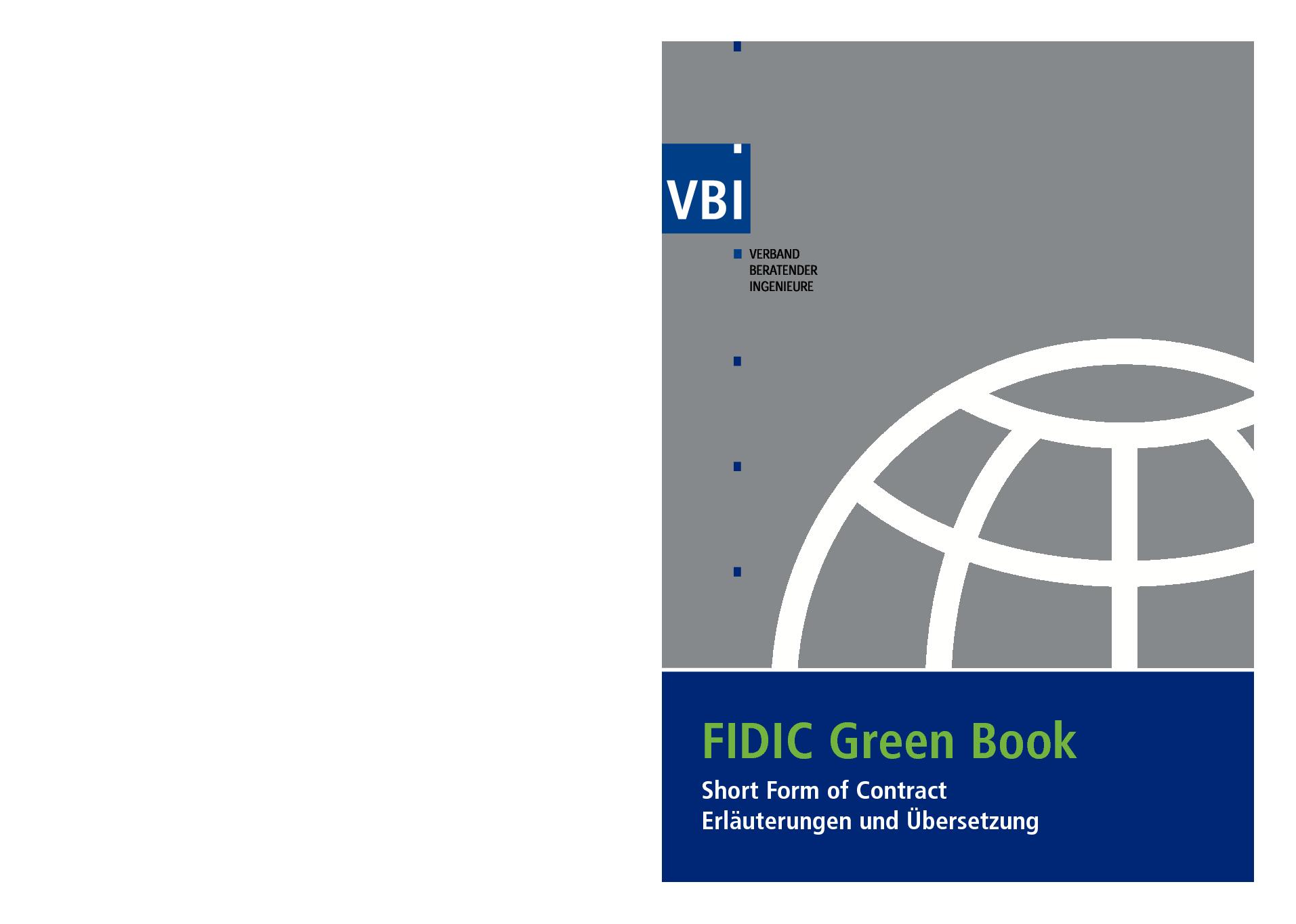 Fidic Green Book Pdf