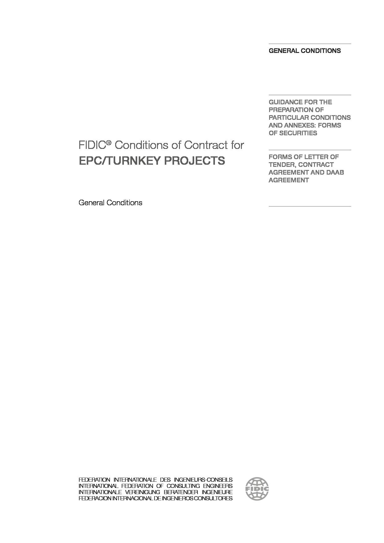 fidic epc contract