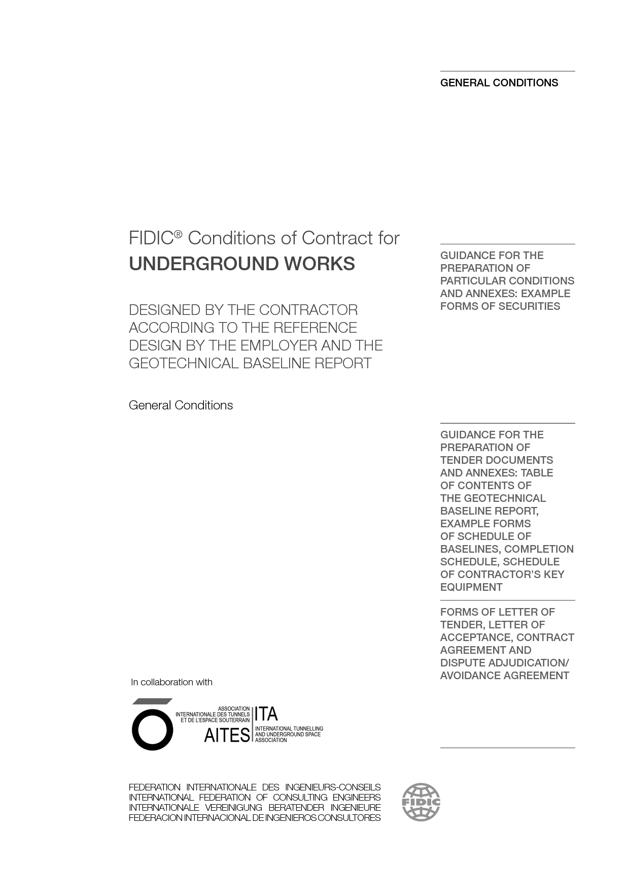 Conditions of Contract for Underground Works (2019 Emerald book