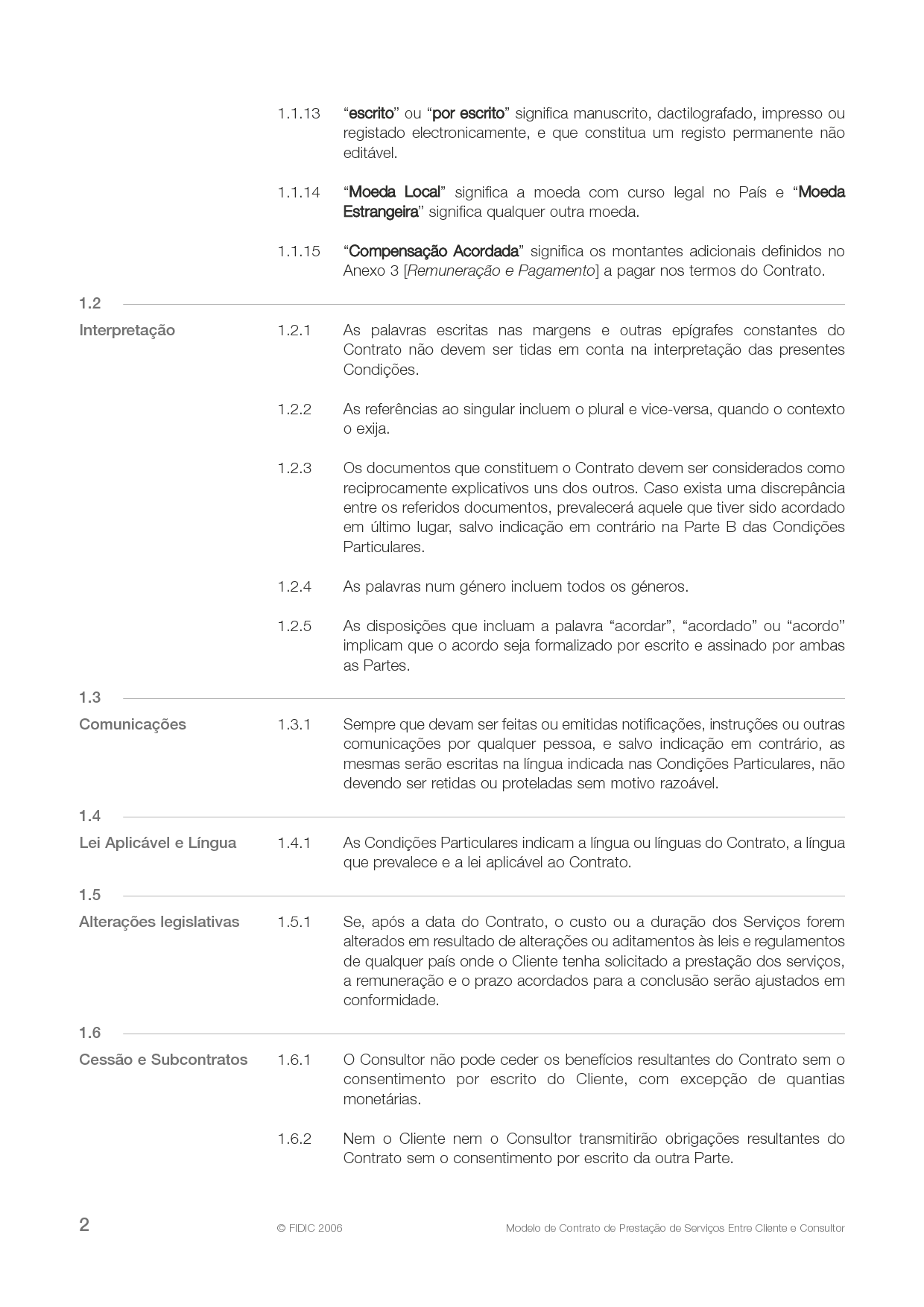 clientconsultant model services agreement 4th ed 2006