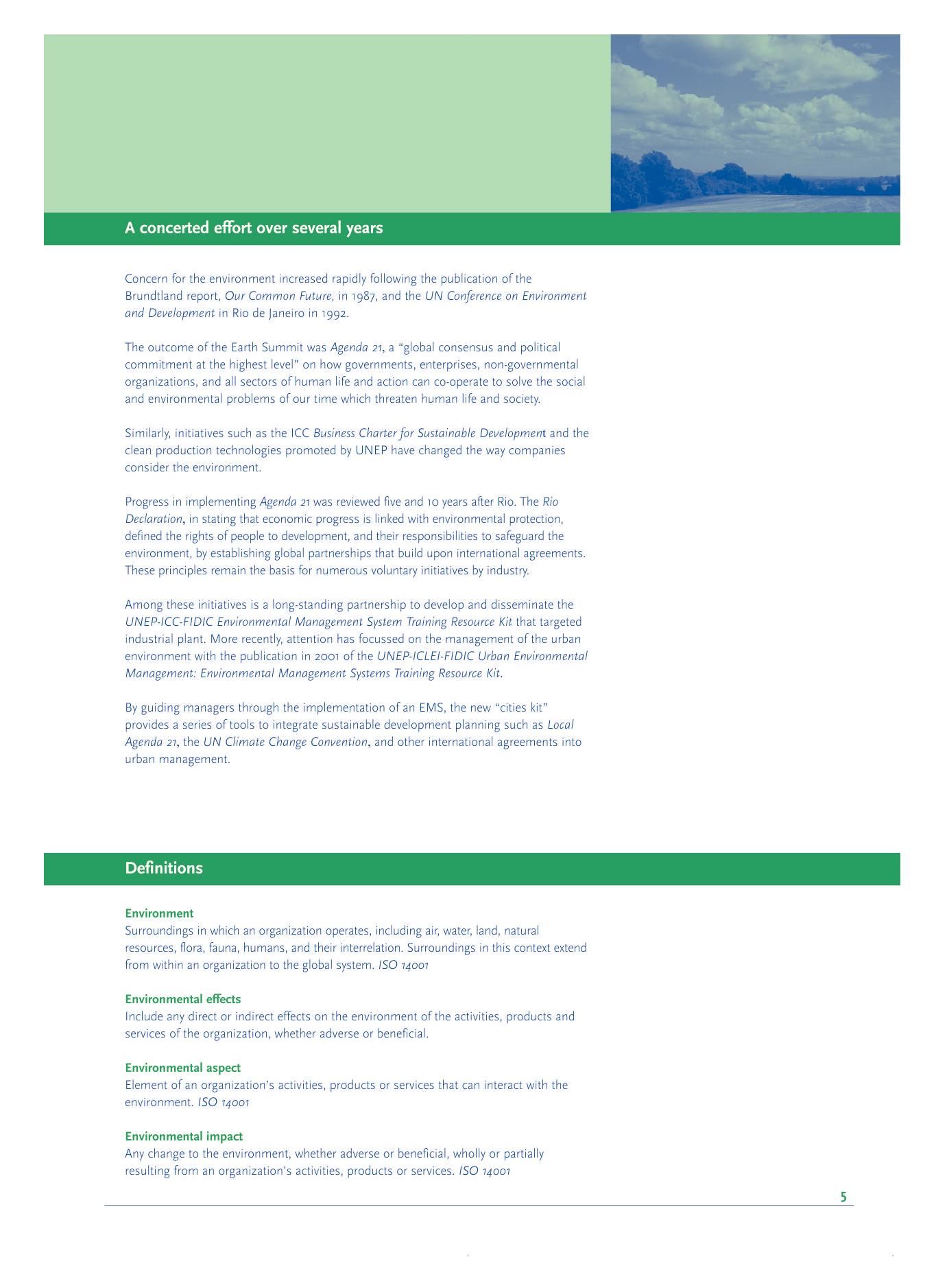 EMS (Environmental Management System) Training Resource Kit